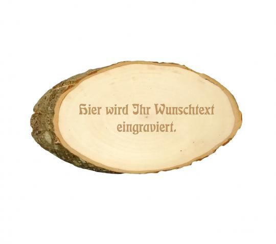 Baumscheibe mit Wunschtext 33cm