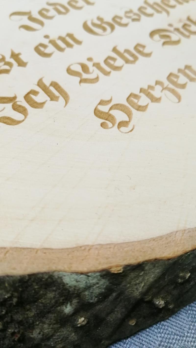 Baumscheibe mit Wunschtext 28cm