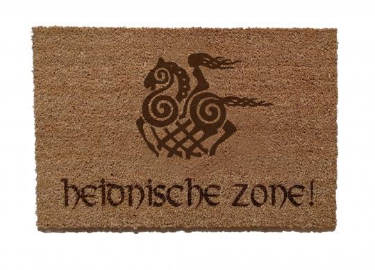 Heidnische Zone Fußmatte
